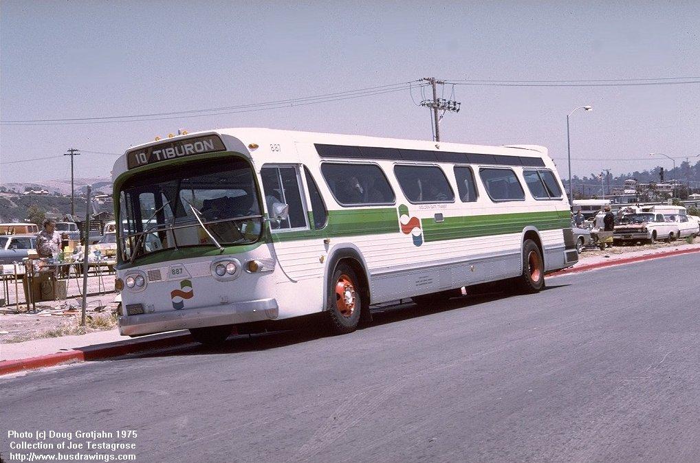 Www Busdrawings Com Golden Gate Transit 1974 75 Gm T8h