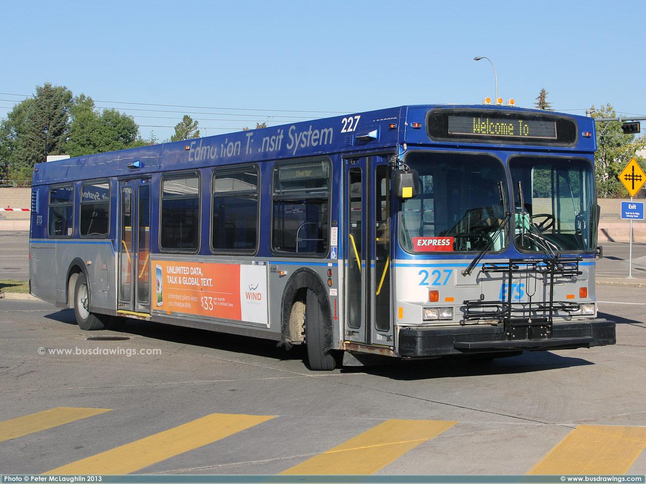 Www Busdrawings Com Edmonton Transit Ets 1993 New Flyer