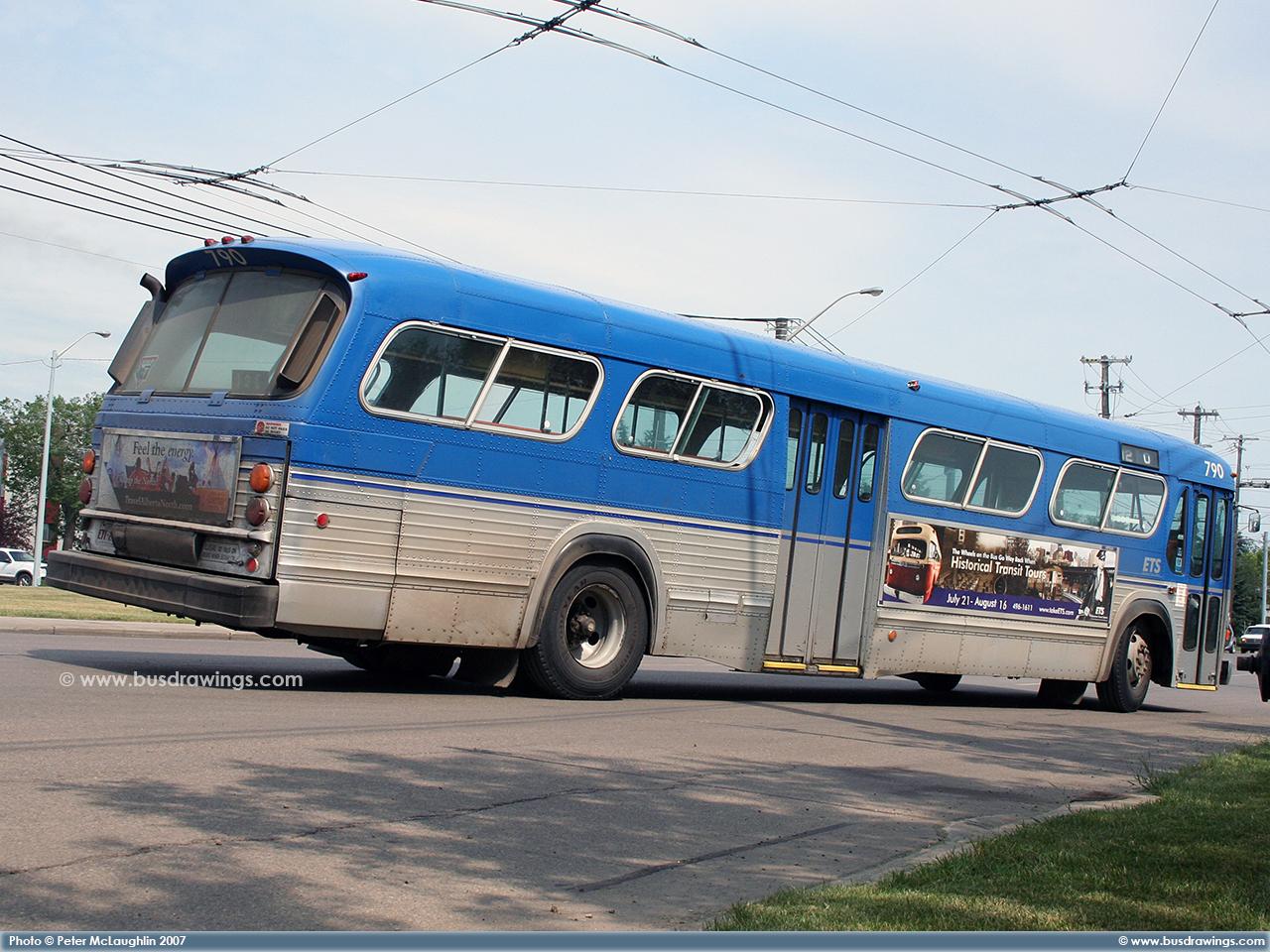 Www Busdrawings Com Edmonton 1978 Gm T6h 5307n 768 790