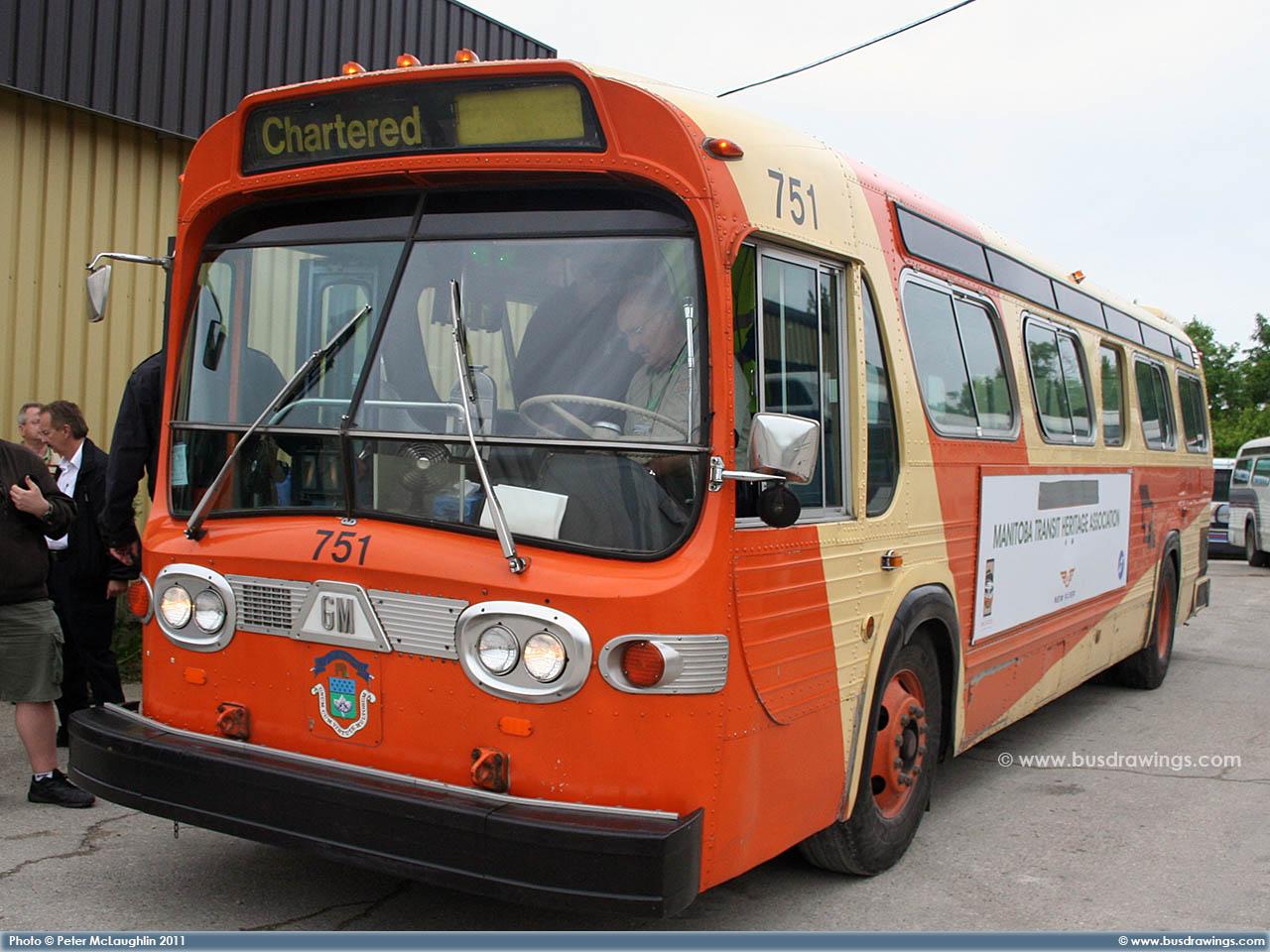 www busdrawings com - Brandon Transit - 1959 GM TGH-3102