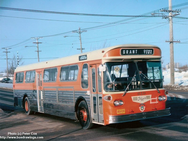 Www Busdrawings Com Winnipeg Transit 1968 Flyer Model D700