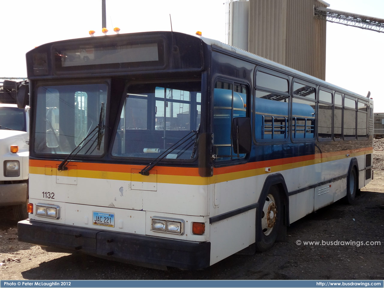 1992 gillig bus going through city in evansvilleindiana - 1 part 4