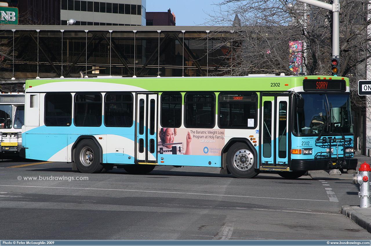 1992 gillig bus going through city in evansvilleindiana 8