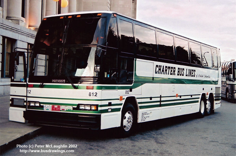 www busdrawings com - Charter Bus Lines Prevost H3-40