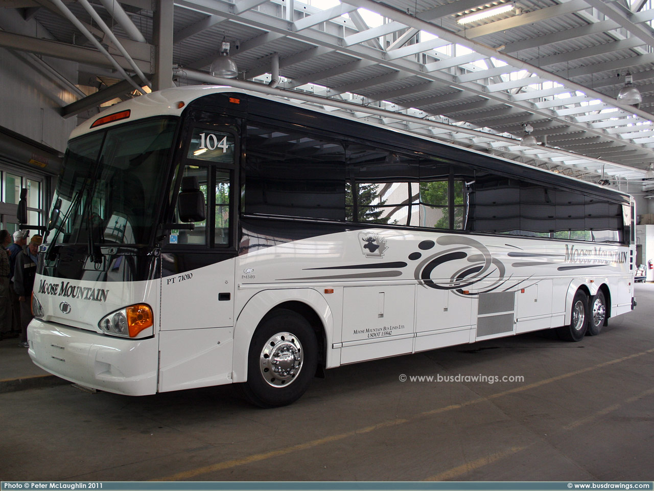 Moose Mountain Bus Lines Motor Coach Industries Mci D4505